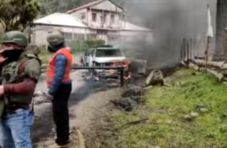 En Contulmo queman dos camionetas del OS 9 de Carabineros