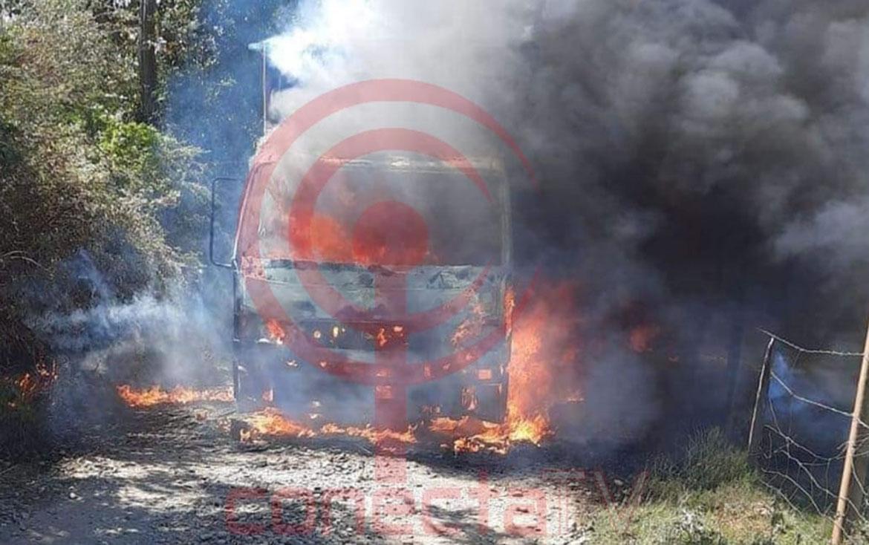 8 equipos forestales fueron quemados por encapuchados en contulmo