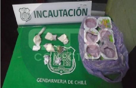 GENDARMES DE CÁRCEL DE LEBU INCAUTAN DROGA ESCONDIDA EN POTES DE YOGUR