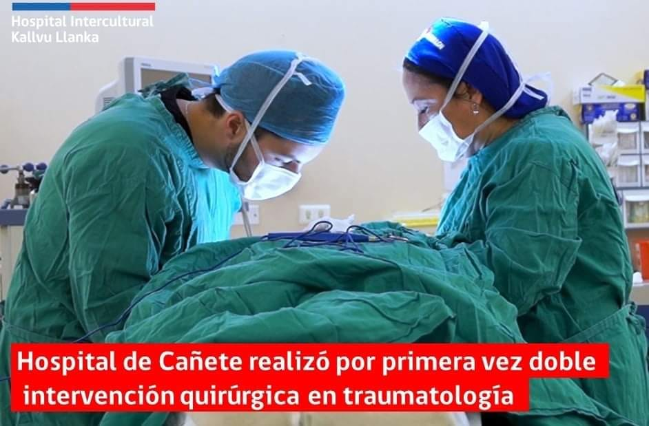 HOSPITAL DE CAÑETE REALIZÓ POR PRIMERA VEZ DOBLE INTERVENCIÓN QUIRÚRGICA EN TRAUMATOLOGÍA