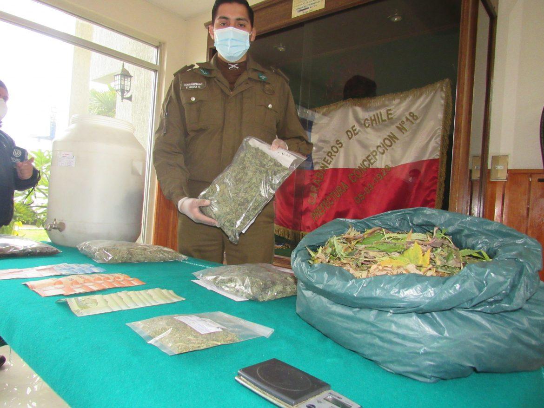 OS7 DE CARABINEROS DESBARATA FOCO DE TRÁFICO DE DROGAS EN PLENO CENTRO DE CONCEPCIÓN