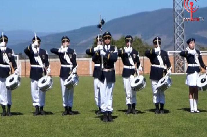 Exitoso encuentro nacional de bandas de guerra se realizó en Cañete