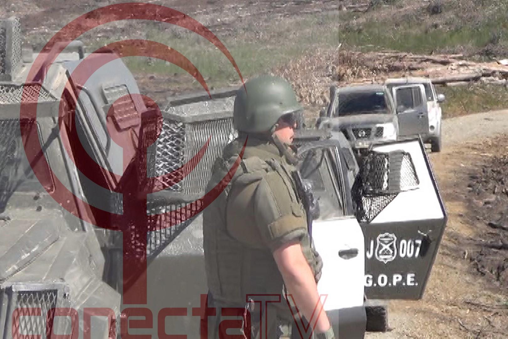 Encapuchados robaron dos camionetas a trabajadores que instalaban antena en Curapaillaco