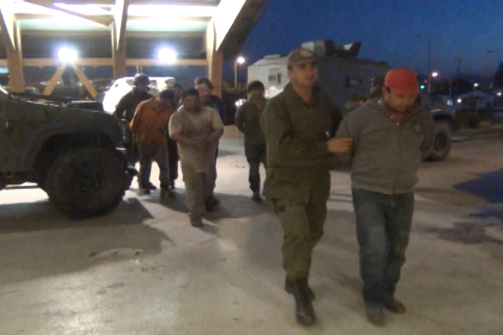 En libertad quedaron los 8 detenidos por un eventual robo de madera en Tirúa