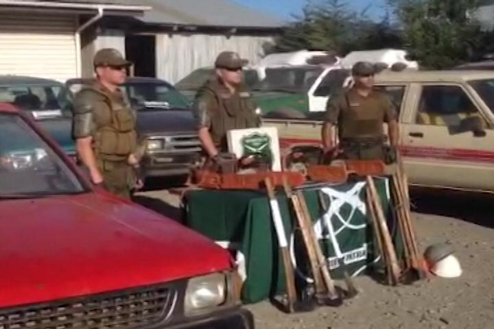 Formalizan por hurto de madera a dos comuneros Mapuche