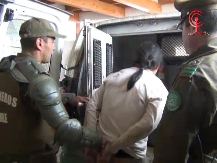 Comunero Mapuche quedó preso por hurto de madera en Cañete
