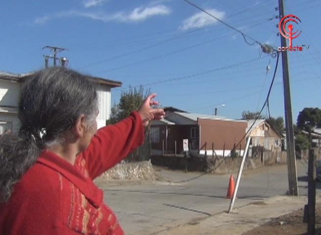 Estallidos eléctricos provocaron pánico entre los vecinos del sector Gajardo Sur en Cañete
