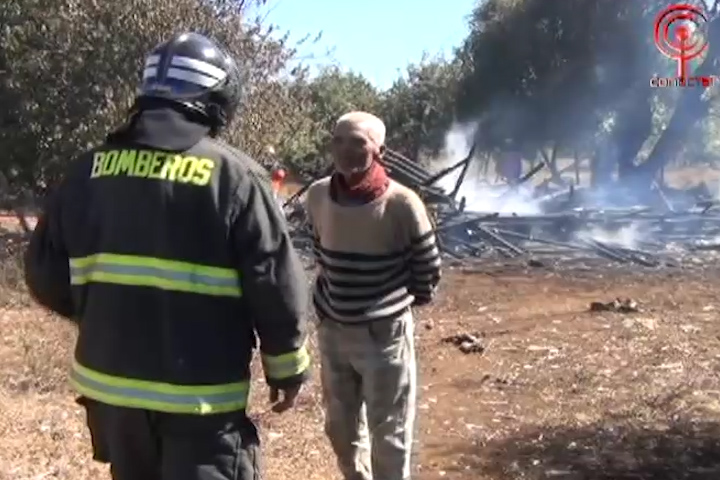 Anciano de 83 años perdió todo en incendio de la localidad rural de Ponotro