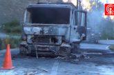Camioneros fueron emboscados por encapuchados y sus móviles quemados en ruta Contulmo-Purén.