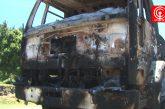 Encapuchados amarran a chofer, le quitan camión y luego lo queman en la ruta que conecta Cañete con Tirúa.