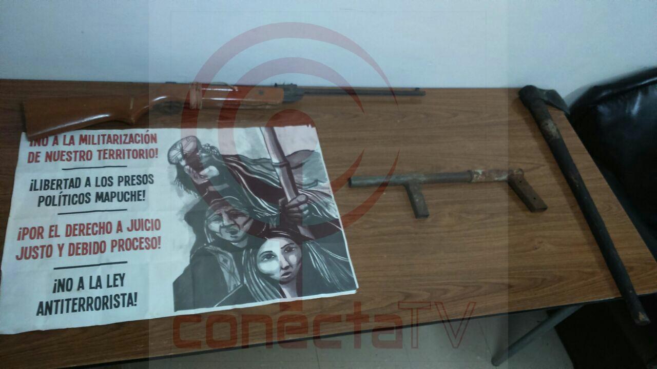Carabineros que custodiaban predio forestal fueron atacados y autor fue detenido en Los Álamos