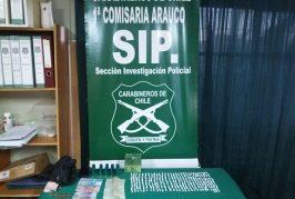 Adolescente de 16 años fue detenido por vender pasta base en caleta Tubul de Arauco