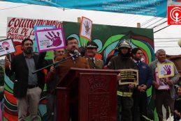 Hombres de la provincia de Arauco marcharon para decir No a la Violencia contra la Mujer.