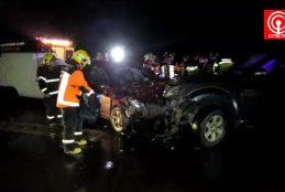 Violenta colisión en Cruce de Peleco de Cañete deja 4 lesionados, entre ellos, un menor de edad.