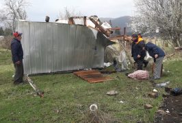 Temporal de viento y lluvias provocó caída de árboles, voladura de techumbres y crecida de ríos en Cañete.