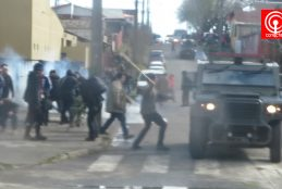 Incidentes tras fallo que condenó a seis comuneros Mapuche por atentado incendiario en sector Cuyinpalihue de Cañete.