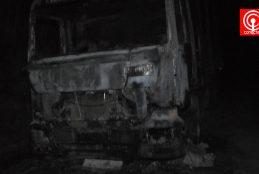 Encapuchados queman camión forestal en zona cordillerana de Contulmo.