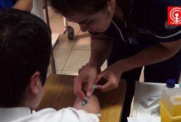 Alumnos de técnico en enfermería del Liceo Politécnico de Cañete participaron de operativo toma de examen preventivo