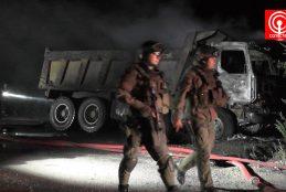 Catorce camiones quemados, además de uno dañado, dejó ataque incendiario en la comuna de Los Álamos.
