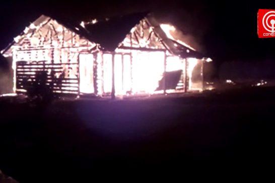 Familia de Lleu – Lleu sufre nuevo ataque incendiario: es la tercer inmueble que les queman.