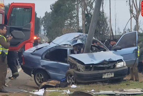 Jóvenes primos mueren en violento accidente de tránsito en la comuna de Tirúa.