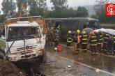 Colisión entre camión y bus policial deja 20 heridos en Cañete