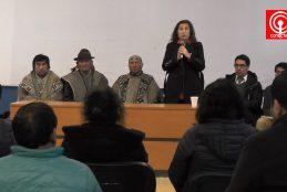 Lonkos y dirigentes Mapuche dieron a conocer problemáticas a gobernadora de la provincia de Arauco.