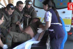 Bloqueo de ruta y Carabineros heridos dejó protesta Mapuche en localidad de Huentelolen en Cañete