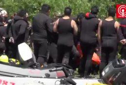 Bomberos, tras 12 días de búsqueda, encontraron cuerpo de chofer que cayó al río en Ponotro.