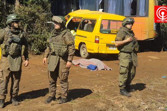 Estudiante de 11 años murió en colisión de furgón escolar y taxibus de pasajeros en sector Collico de Cañete.