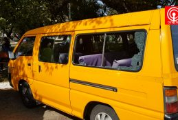 Furgón escolar fue atacado por un Carabinero (de franco) en Cañete
