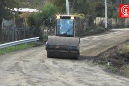 Municipio de Cañete cumplió con mejoras de camino para comunidad indígena de Cayucupil.