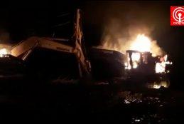 La CAM se atribuye ataque incendiario que destruyó 6 maquinarias en Los Sauces.