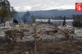 Nuevo atentado en el Lago Lanalhue deja tres cabañas de veraneo quemadas en zona lacustre de Cañete.