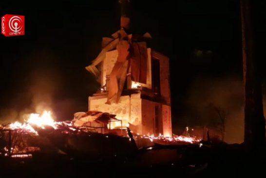 GOBIERNO ANUNCIÓ ACCIONES LEGALES POR QUEMA DE 3 CABAÑAS DEL LAGO LANALHUE EN CAÑETE