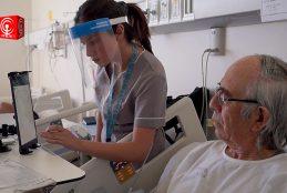 HOSPITAL DE CAÑETE IMPLEMENTA VÍDEO LLAMADAS ENTRE PACIENTES HOSPITALIZADOS Y SUS FAMILIAS.
